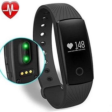 Fitness Armbanduhr,Yamay Fitness Tracker mit Herzfrequenz Pulsuhren Aktivitätstracker Fitnessuhr Bluetooth Smartwatch Schrittzähler Vibrationswecker Anruf SMS SNS Vibration für iOS und Android Handy - 1