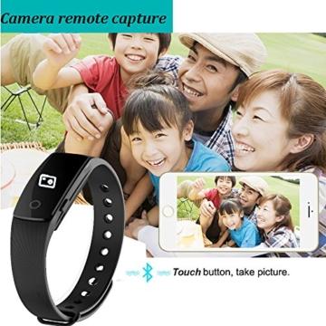 Fitness Armbanduhr,Yamay Fitness Tracker mit Herzfrequenz Pulsuhren Aktivitätstracker Fitnessuhr Bluetooth Smartwatch Schrittzähler Vibrationswecker Anruf SMS SNS Vibration für iOS und Android Handy - 7
