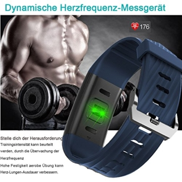 Fitness Armband,Yamay Fitness Tracker mit Herzfrequenz Wasserdicht IP67 Smart Watch Pulsuhren Aktivitätstracker Schrittzähler Armbanduhr,Schlafanalyse,Kalorienzähler Anruf/SMS für iOS Android Handys - 3