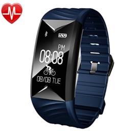 Fitness Armband,Yamay Fitness Tracker mit Herzfrequenz Wasserdicht IP67 Smart Watch Pulsuhren Aktivitätstracker Schrittzähler Armbanduhr,Schlafanalyse,Kalorienzähler Anruf/SMS für iOS Android Handys - 1