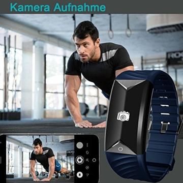 Fitness Armband,Yamay Fitness Tracker mit Herzfrequenz Wasserdicht IP67 Smart Watch Pulsuhren Aktivitätstracker Schrittzähler Armbanduhr,Schlafanalyse,Kalorienzähler Anruf/SMS für iOS Android Handys - 8