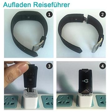 Fitness Armband,Yamay Fitness Tracker mit Herzfrequenz Wasserdicht IP67 Smart Watch Pulsuhren Aktivitätstracker Schrittzähler Armbanduhr,Schlafanalyse,Kalorienzähler Anruf/SMS für iOS Android Handys - 9