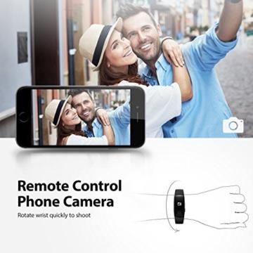Mpow Bluetooth 4,0 Fitness Armbänder mit Pulsmesser,Smart Fitness Tracker mit Herzfrequenzmesser, Schrittzähler, Schlaf-Monitor, Aktivitätstracker, Remote Shoot, Anrufen / SMS, finden Telefon für Android iOS Smartphone wie iPhone 7/7 Plus/6S/6/6 Plus, Huawei P9. - 6